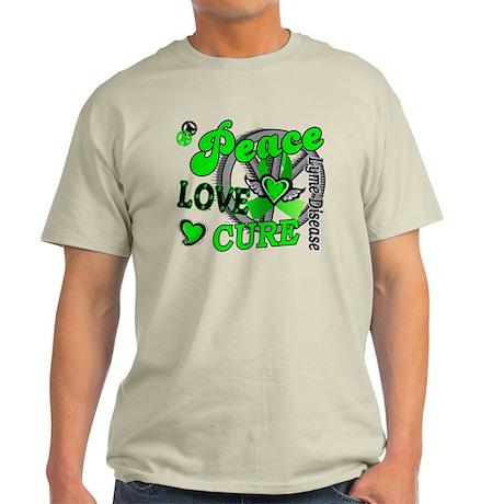 Peace Love Cure 2 Lyme Disease Light T-Shirt