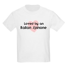 Loved by a Italian Spinone Kids T-Shirt