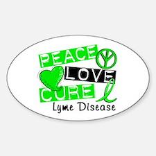 Peace Love Cure Lyme Disease Decal