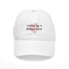 Loved by a Bichon Frise Baseball Baseball Cap