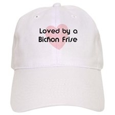 Loved by a Bichon Frise Baseball Cap