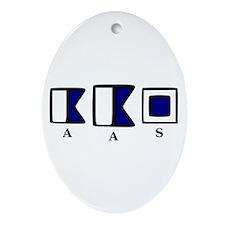 aAs Ornament (Oval)