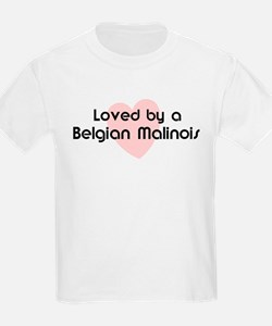 Loved by a Belgian Malinois Kids T-Shirt