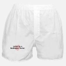 Loved by a Bedlington Terrier Boxer Shorts