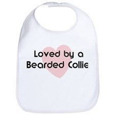 Loved by a Bearded Collie Bib
