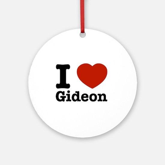 I love Gideon Ornament (Round)