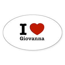 I love Giovanna Decal