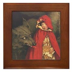 Smith's Red Riding Hood Framed Tile