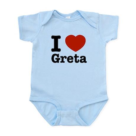 I love Greta Infant Bodysuit