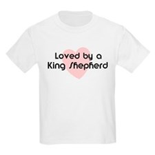 Loved by a King Shepherd Kids T-Shirt