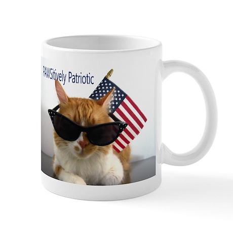 Cool Cat with American Flag Mug