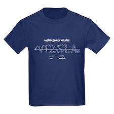 Kid's Vizsla Dark T-Shirt (walkies)