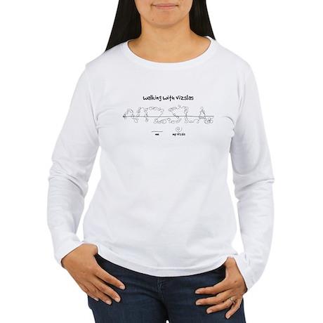 Women's Vizsla Long Sleeve T-Shirt (walkies)