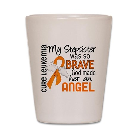 Angel 2 Leukemia Shot Glass