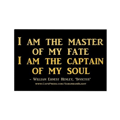 """""""Master Of My Fate"""" Rectangle Magnet (100 pack)"""