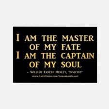 """Master Of My Fate"" Rectangle Magnet"
