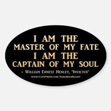 """Master Of My Fate"" Sticker (Oval)"