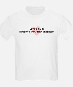 Loved by a Miniature Australi Kids T-Shirt