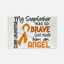 Angel 2 Leukemia Rectangle Magnet