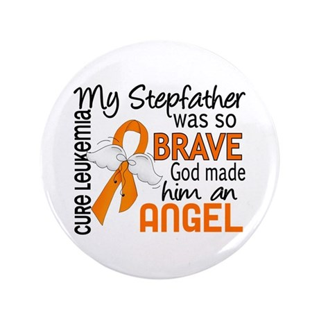 "Angel 2 Leukemia 3.5"" Button (100 pack)"