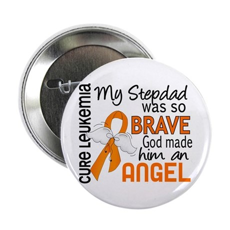 "Angel 2 Leukemia 2.25"" Button (10 pack)"