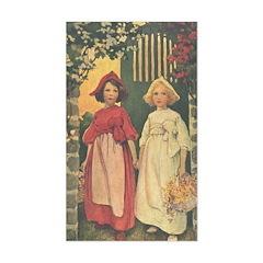 Smith's Snow White & Rose Red Sticker (Rectangular