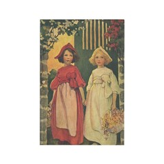 Smith's Snow White & Rose Red Rectangle Magnet