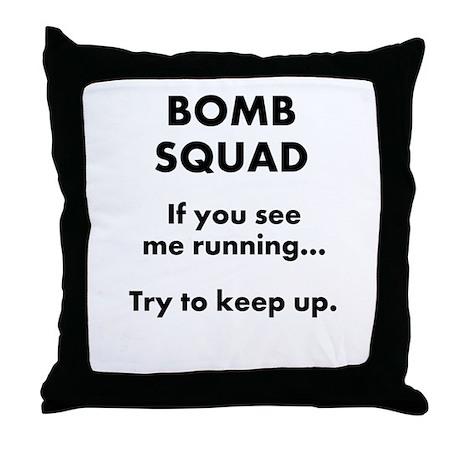 Bomb Squad Range Throw Pillow