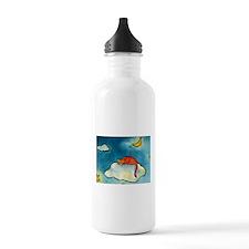 sleeping cloud cat with moon Water Bottle