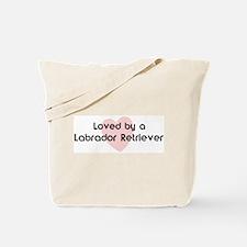 Loved by a Labrador Retriever Tote Bag