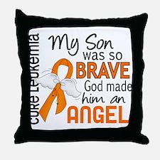 Angel 2 Leukemia Throw Pillow