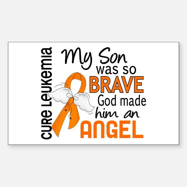 Angel 2 Leukemia Sticker (Rectangle)