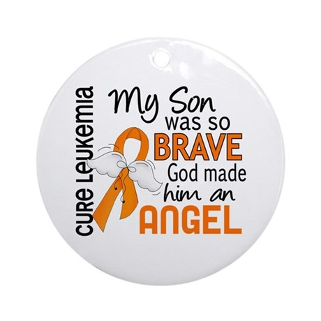 Angel 2 Leukemia Ornament (Round)