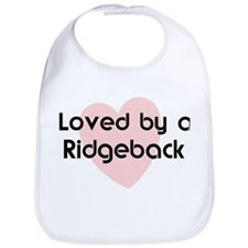 Loved by a Ridgeback Bib