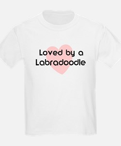 Loved by a Labradoodle Kids T-Shirt