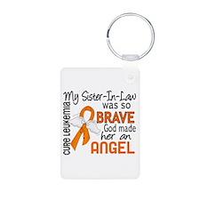Angel 2 Leukemia Keychains