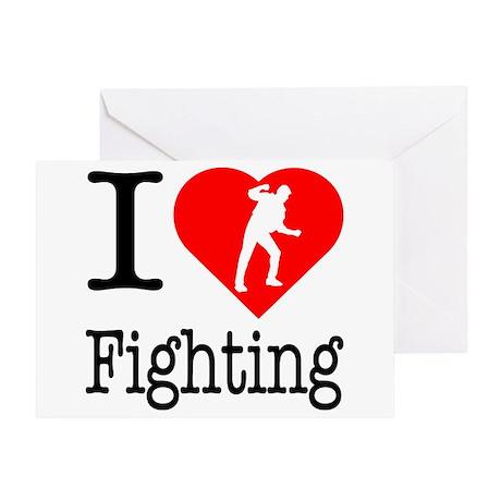I Love Fighting Greeting Card