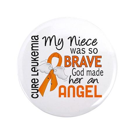 """Angel 2 Leukemia 3.5"""" Button"""