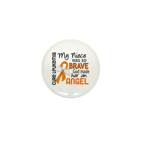 Angel 2 Leukemia Mini Button (100 pack)