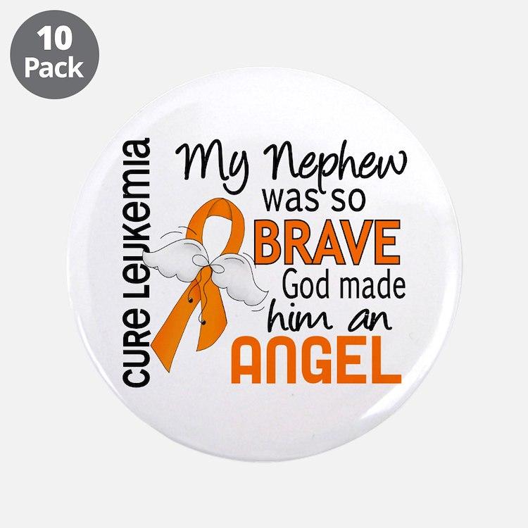 "Angel 2 Leukemia 3.5"" Button (10 pack)"