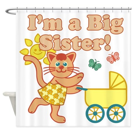 Big Sister Cat Shower Curtain