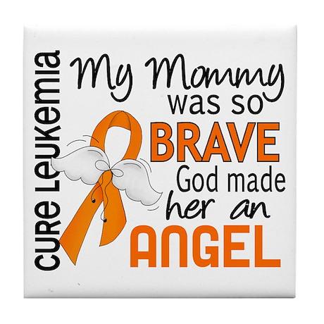 Angel 2 Leukemia Tile Coaster