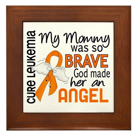 Angel 2 Leukemia Framed Tile