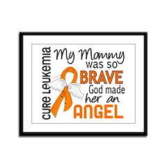 Angel 2 Leukemia Framed Panel Print