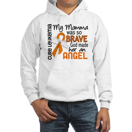 Angel 2 Leukemia Hooded Sweatshirt