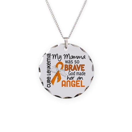 Angel 2 Leukemia Necklace Circle Charm