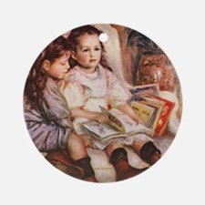 Storytime, Renoir Ornament (Round)