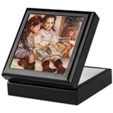 Children reading Square Keepsake Boxes