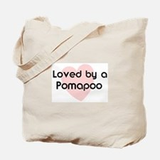 Loved by a Pomapoo Tote Bag