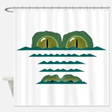 Big Croc Shower Curtain